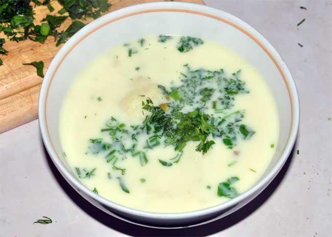 Наш сырный суп готов