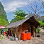 Туристическая лачуга на острове Пхи-Пхи