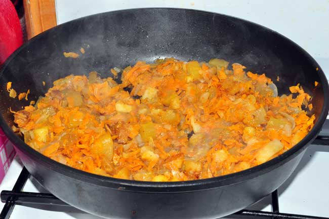 Морковка в кабачки