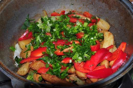 Жаренная картошка готова!
