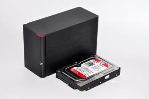 Buffalo LS420 в сравнении с жёстким диском
