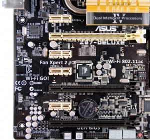Разъемы PCI-E материнской платы ASUS Z87 Deluxe