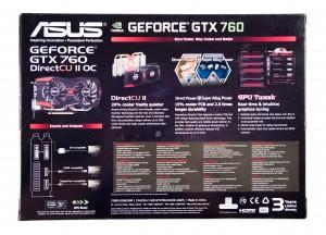 Упаковка видеокарты ASUS GTX 760 DirectCU II OC