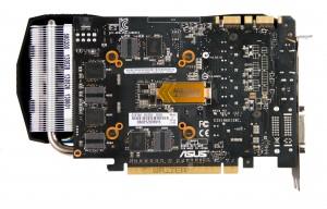 Видеокарта ASUS GTX 760 DirectCU II OC. Обратная сторона