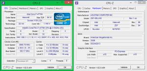 ASUS Z87 Deluxe + Intel Core i7 4770K. Номинал