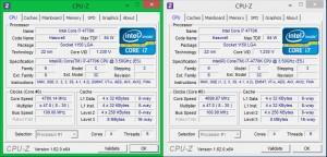 Характеристики Intel Core i7 4770K в разгоне