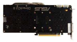 Обратная сторона видеокарты ASUS GTX 770 DirectCU II OC