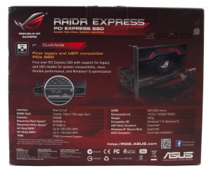 Упаковка SSD ASUS ROG RAIDR Express 240Gb