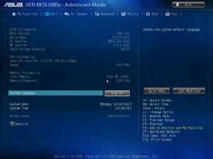 BIOS материнской платы ASUS Z87 Plus