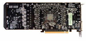 Обратная сторона видеокарты AMD R290X