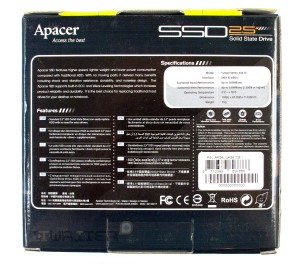 Упаковка накопителя APACER 240 Gb AS610