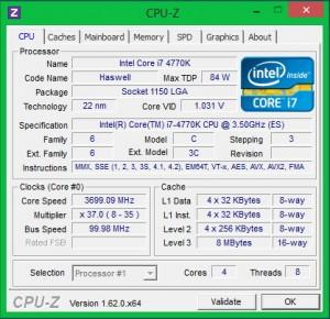 Intel 4770K + ASUS Z87 Expert в номинале