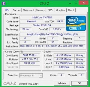 Intel 4770K + ASUS Z87 Plus в номинале