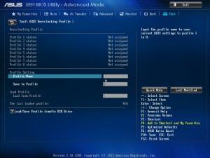 BIOS материнской платы ASUS X79 Deluxe