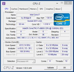 ASUS X79 Deluxe + Core i7 4960X в разгоне