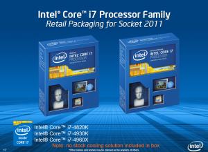 Упаковки процессоров Core i7 Extreme