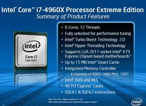 Спецификации Intel Core i7 4960X