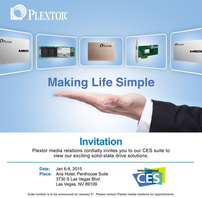 Invitation from Plextor