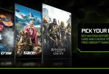 купите видеокарту EVGA GTX и получите Assassin's Creed Unity, Far Cry 4 или The Crew бесплатно