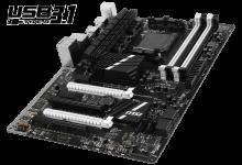 Первая материнская плата AMD с USB 3.1
