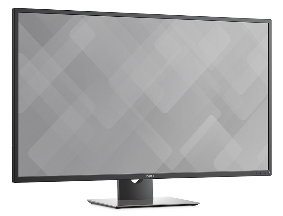 right faing view of a Dell P series Display (Model P4317Q) monitor.