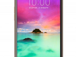 Смартфон LG K10 2017 с широкоформатной камерой
